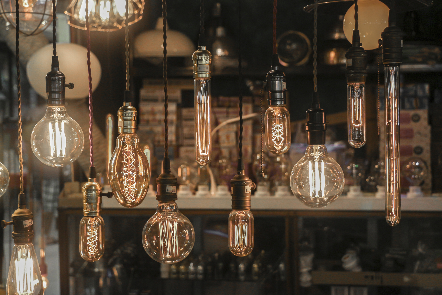 Light bulbs in different shapes (Light decoration)